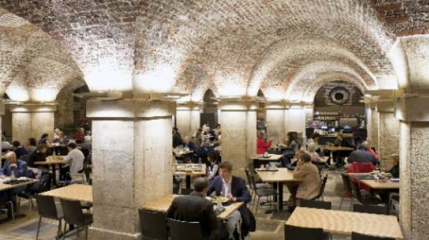 The Café in the Crypt beneath St Martin-in-the-Fields in Trafalgar Square.