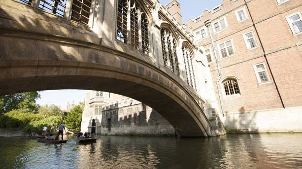 Punting underneath the Bridge of Sighs