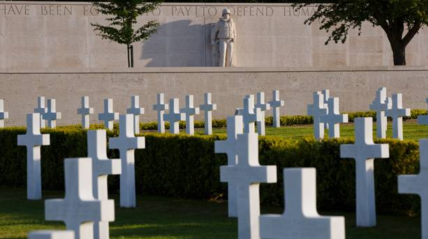 Wall of the Missing at the Cambridge American Cemetery