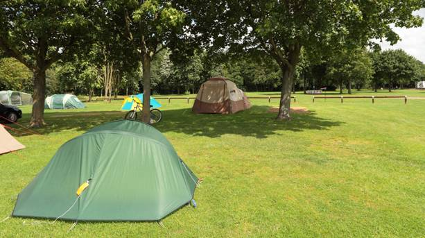 Camping at the National Water Sports Centre