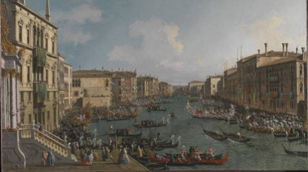 Image of Canaletto's A Regatta on the Grand Canal