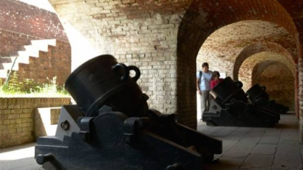 Cannons at Royal Armouries, Fort Nelson, Hampshire
