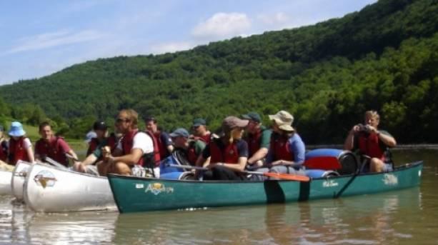 Kayaking the river Wye