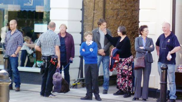 Cast on Hill Road, Clevedon (Broachurch High Street)