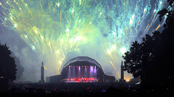 Firework finale at Castle Howard's Proms Spectacular