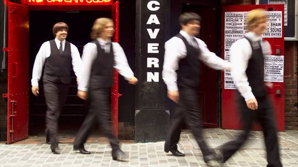 Fab Four outside the Cavern