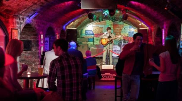 Live music at the Cavern in Liverpool