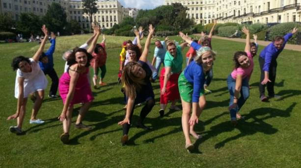 Photo of people performing the Charleston at Brunswick Square