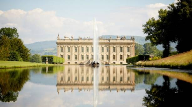 The south facade of Chatsworth House