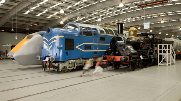 A Locomotion at The National Railway Museum at Shildon