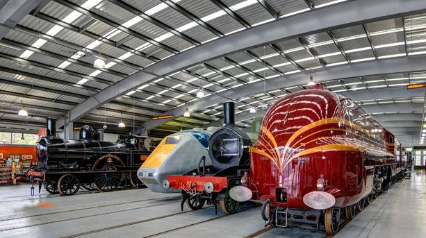 Trains at The National Railway Museum at Shildon
