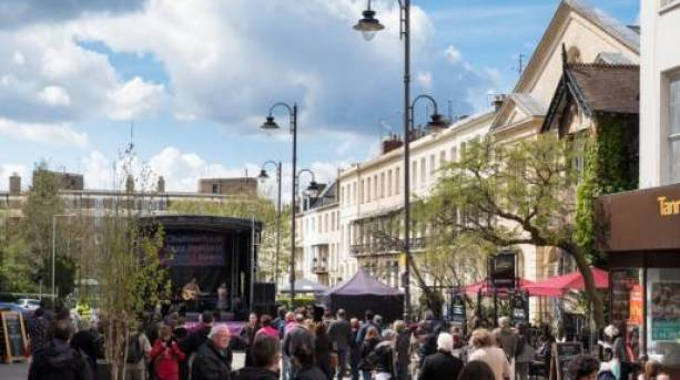 Cheltenham Jazz Festival Pop up performances in town
