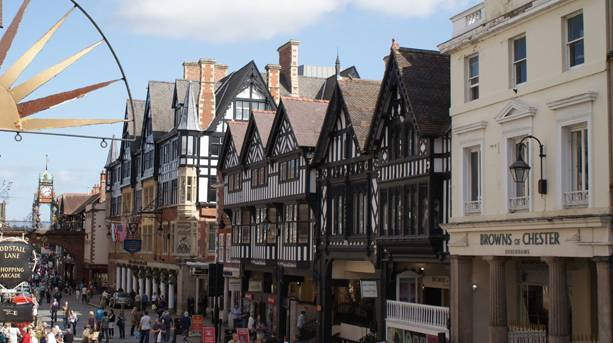 Eastgate Street in Chester City Centre