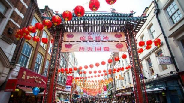 The heart of Chinatown in London's West End