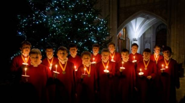 Choirboys at Winchester Cathedral
