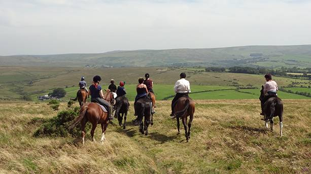 Riding on the open moor