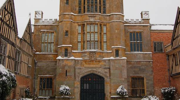 Coughton Court in winter