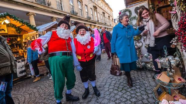 Bath Christmas Market elves