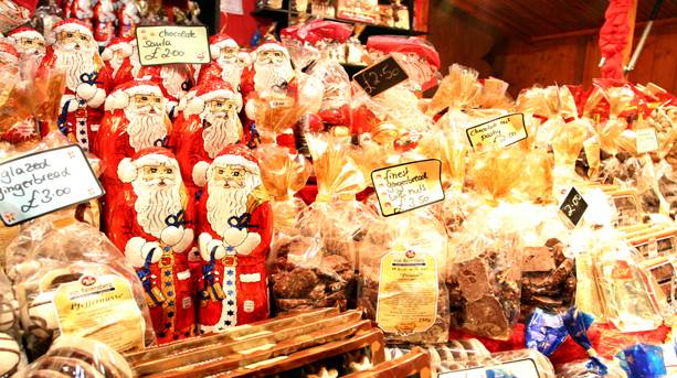 Christmas market goodies