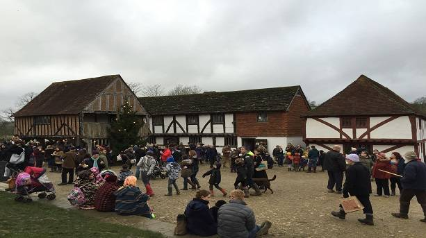 Christmas Market Square at the Weald and Downland Museum