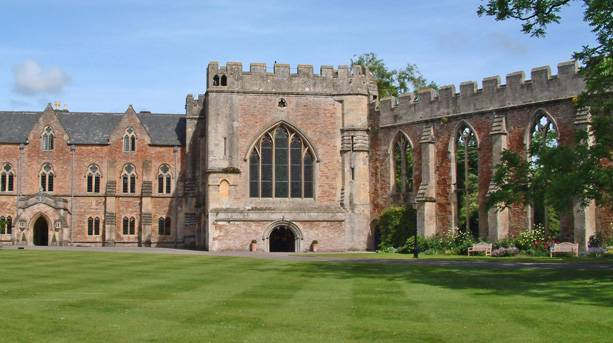 Bishops Palace lawn and chapel
