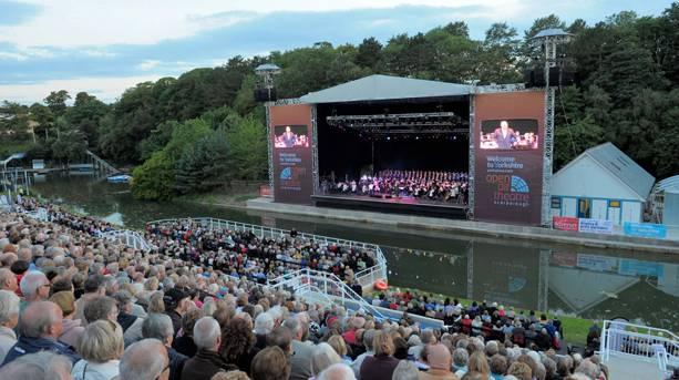 Evening concert at Scarborough Open Air Theatre