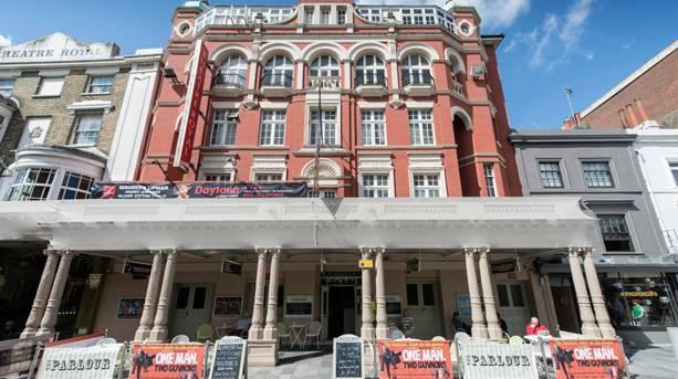 An exterior shot of the Theatre Royal Brighton
