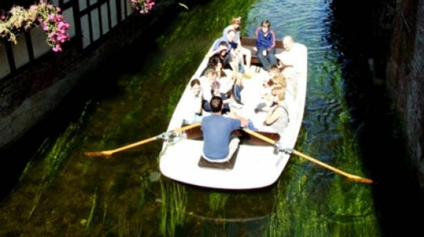 People on a river tour in Canterbury