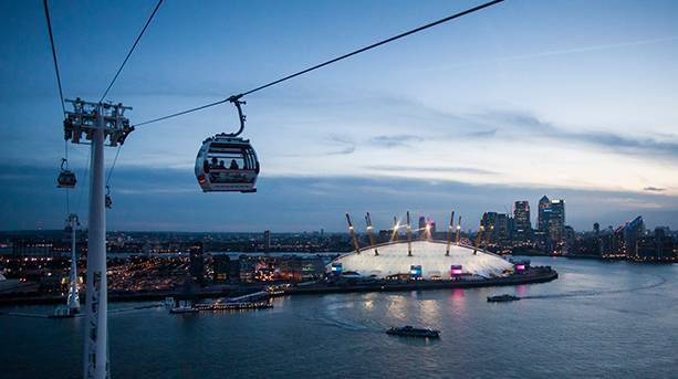 Emirates Air Line, London's only cable car