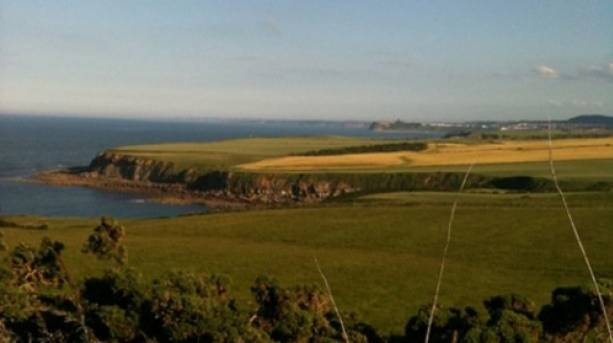 Enjoying the views on the Yorkshire Coast
