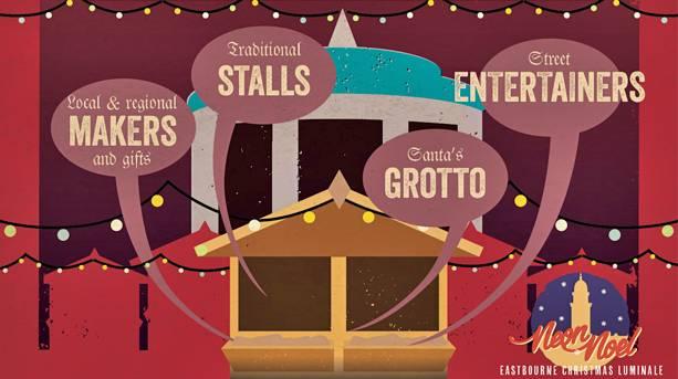 Christmas Market at Eastbourne Bandstand