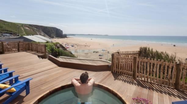 Coastal views from the hot tub