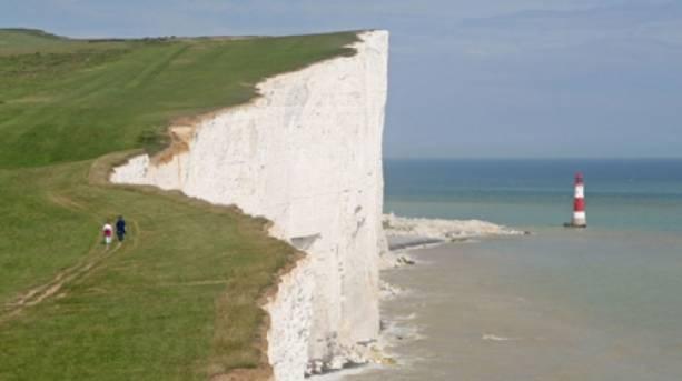 Beachy Head, the UK's highest chalk sea cliff