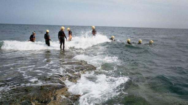 Coasteering at Howick Haven