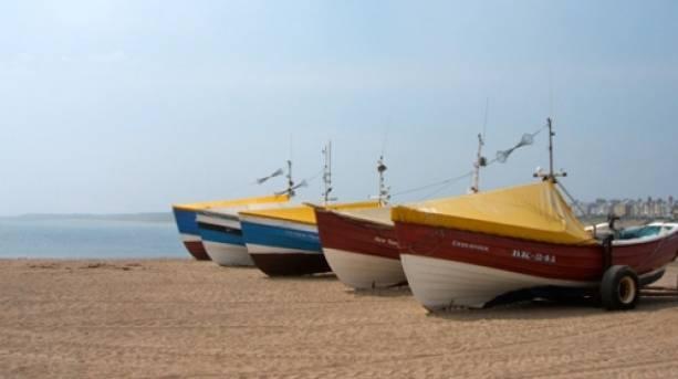 Traditional Cobles on Newbiggin Beach