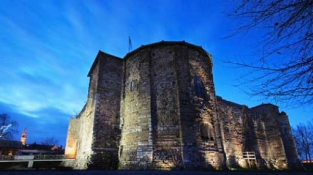 Colchester Castle by night