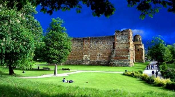 View of Colchester Castle from the park