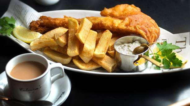 Colmans fish and chips, South Tyneside