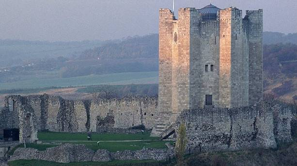 Conisbrough Castle and the magnificent surrounding landscape