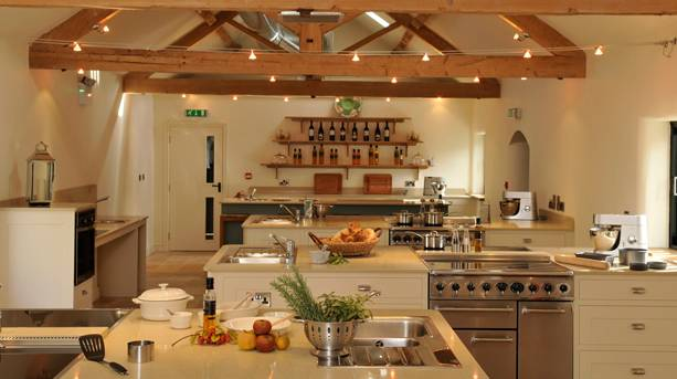 The kitchen at Brompton Cookery School