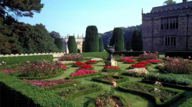 In the gardens of Lanhydrock House
