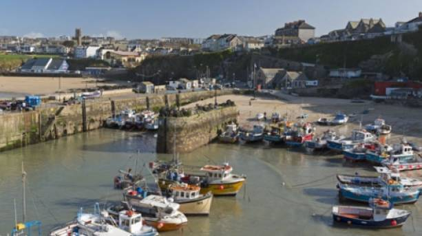 View of Newquay harbour