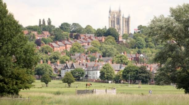 Lincoln West Common and Lincoln Cathedral