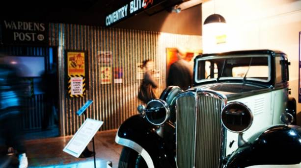 A vintage car at the Coventry Transport Museum