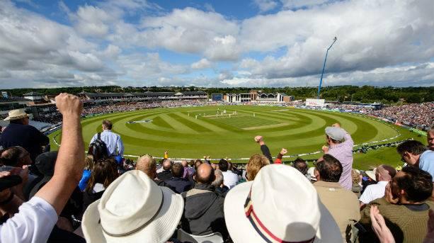 Watching cricket in Durham