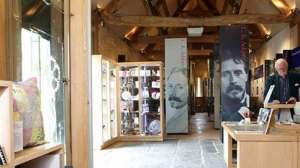 Displays of arts and crafts inside Court Barn Museum