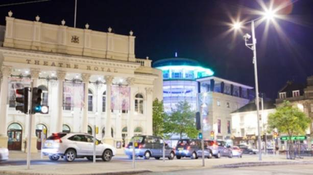 The Theatre Royal at night