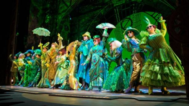 Actors performing in Wicked