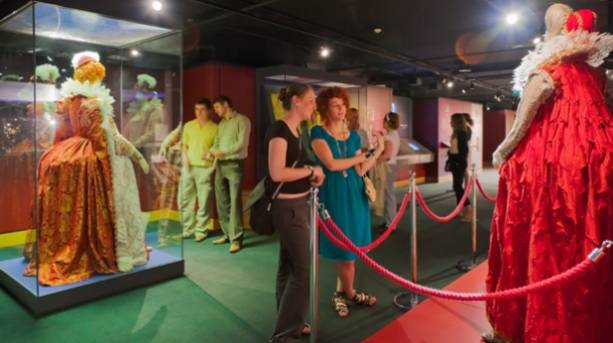 Visitors at Shakespeare's Globe exhibition