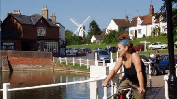 Cycling around picturesque Finchingfield